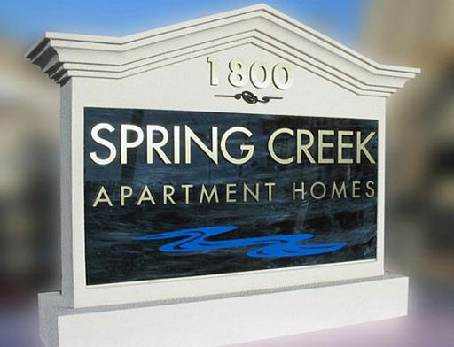 Model #20 Apartment entrance sign marble acrylic & gold metal letters