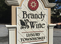 Brandywine Luxury Townhomes Sign Monument
