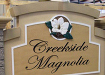 Creekside Magnolia Sign Monument