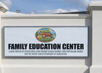 Family Education Center Sign Monument