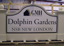 GMH Dolphin Gardens Sign Monument