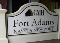 GMH Fort Adams Sign Monument