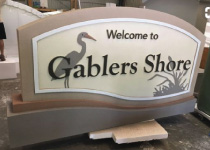 Gablers Shore Signature Wave Sign Monument Series