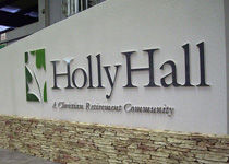 Holly Hall Sign Monument One