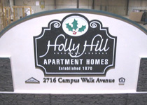 Holly Hill Apartment Homes Sign Monument