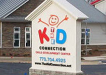 Kid Connection Installed Sign