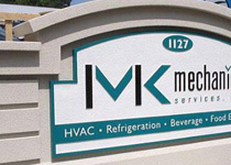 MK Mechanical Sign Monument