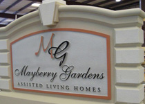 Mayberry Gardens Sign Monument