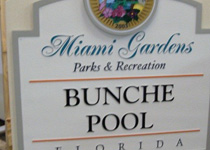 Miami Gardens Bunche Pool Sign Monument
