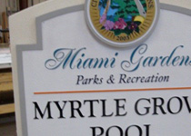 Miami Gardens Myrtle Grove Pool Sign