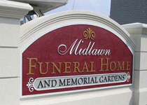 Midlawn Funeral Home & Memorial Gardens Sign