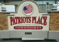Patriots Place Townhomes Sign Monument