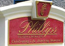 Phillips Funeral Home Sign Monument