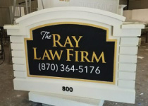Ray Law Firm Sign Monument