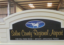 Saline County Regional Airport Sign Monument