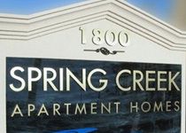 Spring Creek Sign Monument