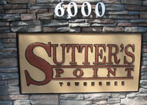 Sutter's Point Sign Monument