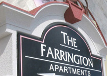 The Farrington Apartments Sign Monument