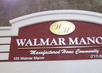 Walmar Manor Entrance Sign Monument