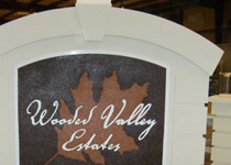 Wooded Valley Estates Sign Monument