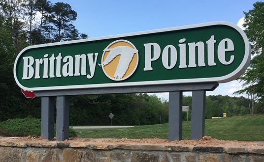 Brittany Pointe HOA Community Entrance Sign Monument