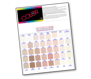 paint color matching chart