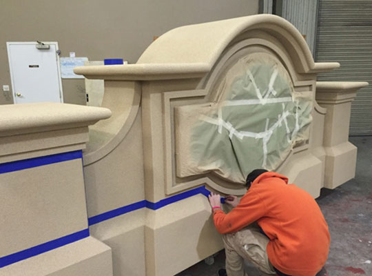 EIFS Stucco Sign Monument In Production