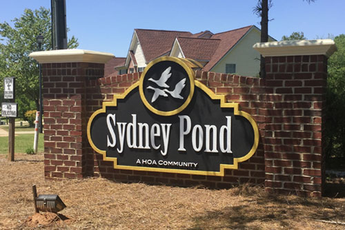 Sydney Pond Community Sign Monument After Picture