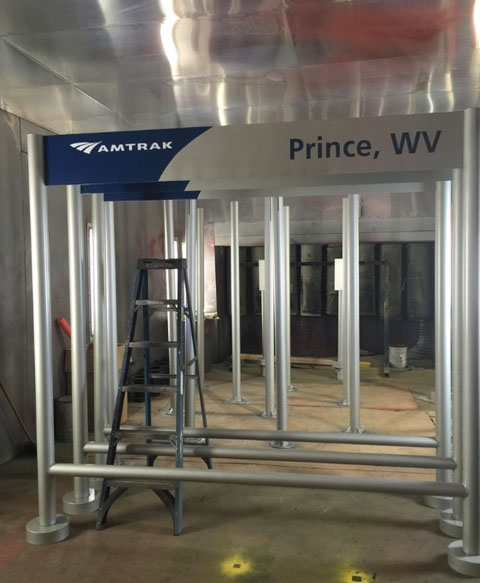 Metal Sign Fabrication - Amtrak